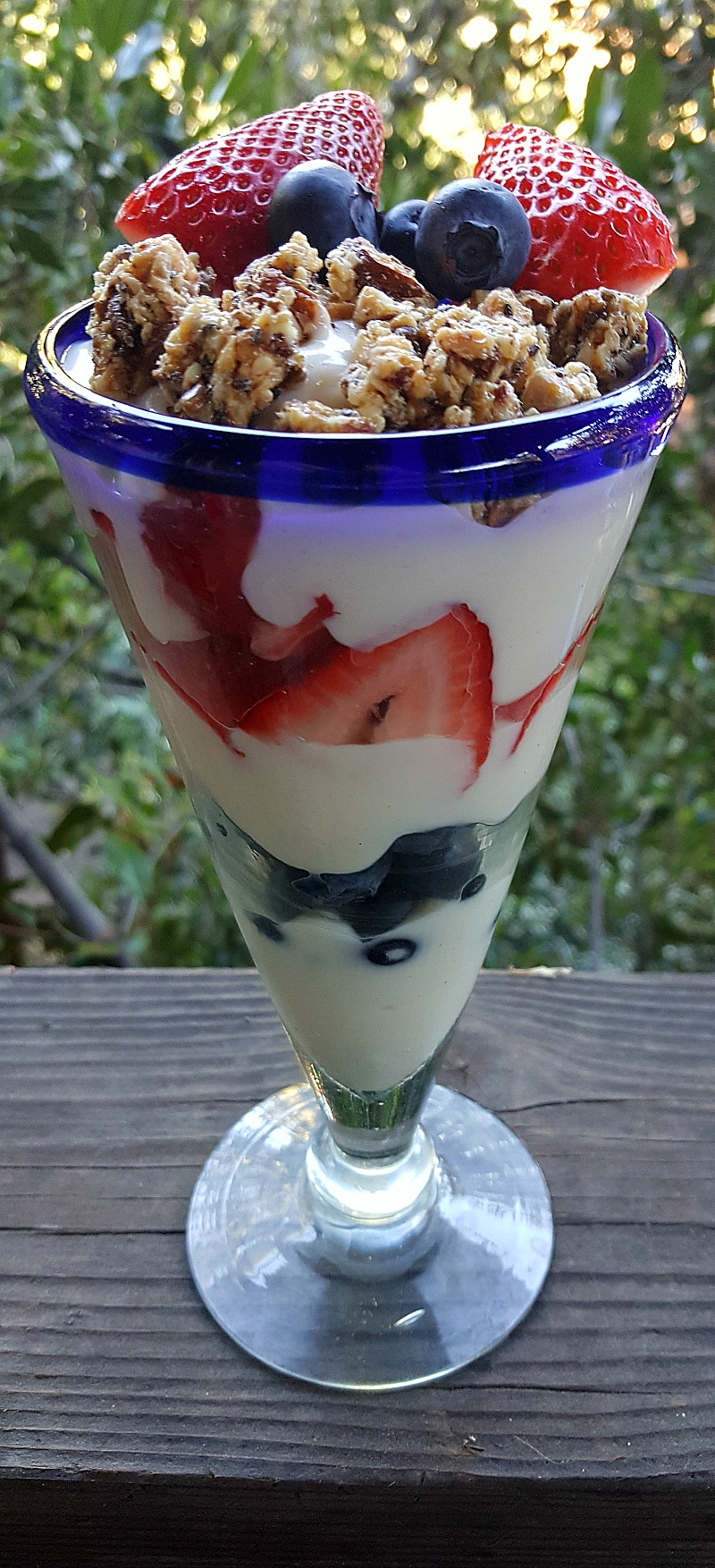 Healthy Strawberry Blueberry Yogurt Parfait Recipe