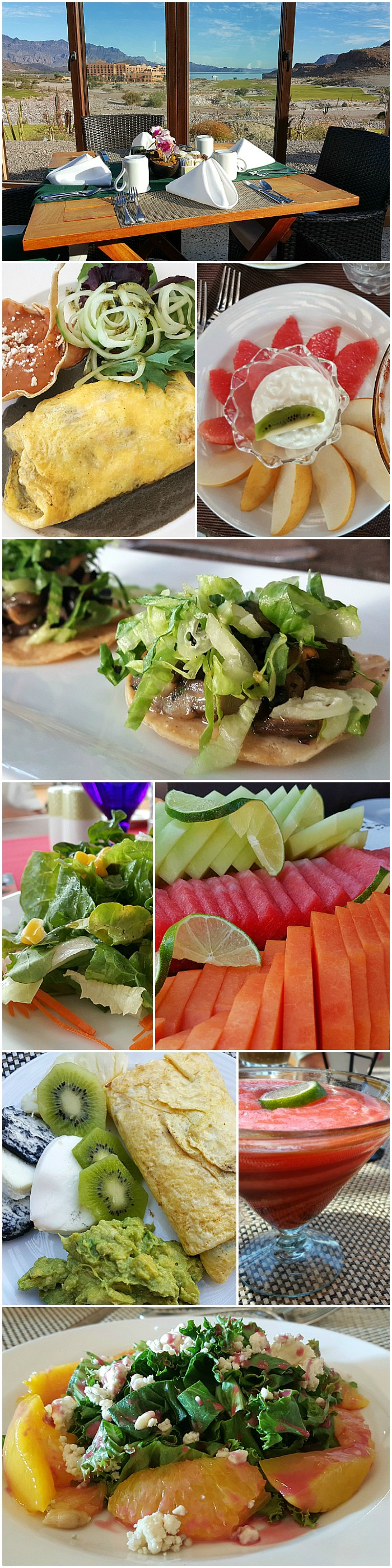 Plenty of Vegetarian options at the all inclusive Villa Del Palmar Loreto, Baja California Sur, Mexico