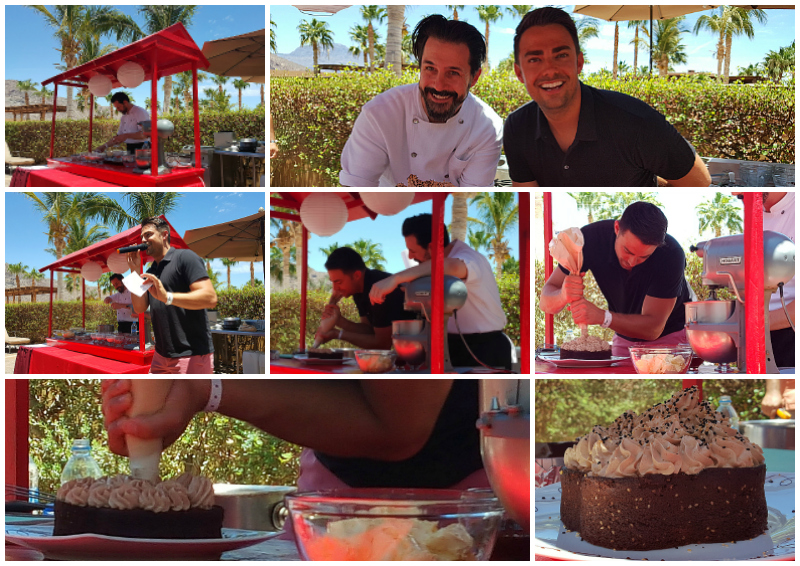 Cake Demo by the Pool at Pastry Chef Week at Villa del Palmar Loreto