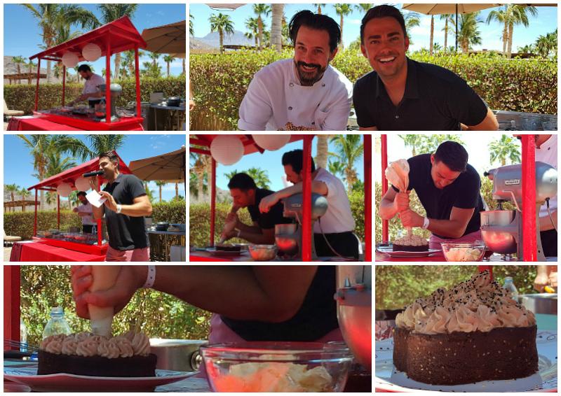 Cake Demo by the Pool at Pastry Chef Week at Villa del Palmar Loreto