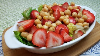Strawberry Chickpea Salad