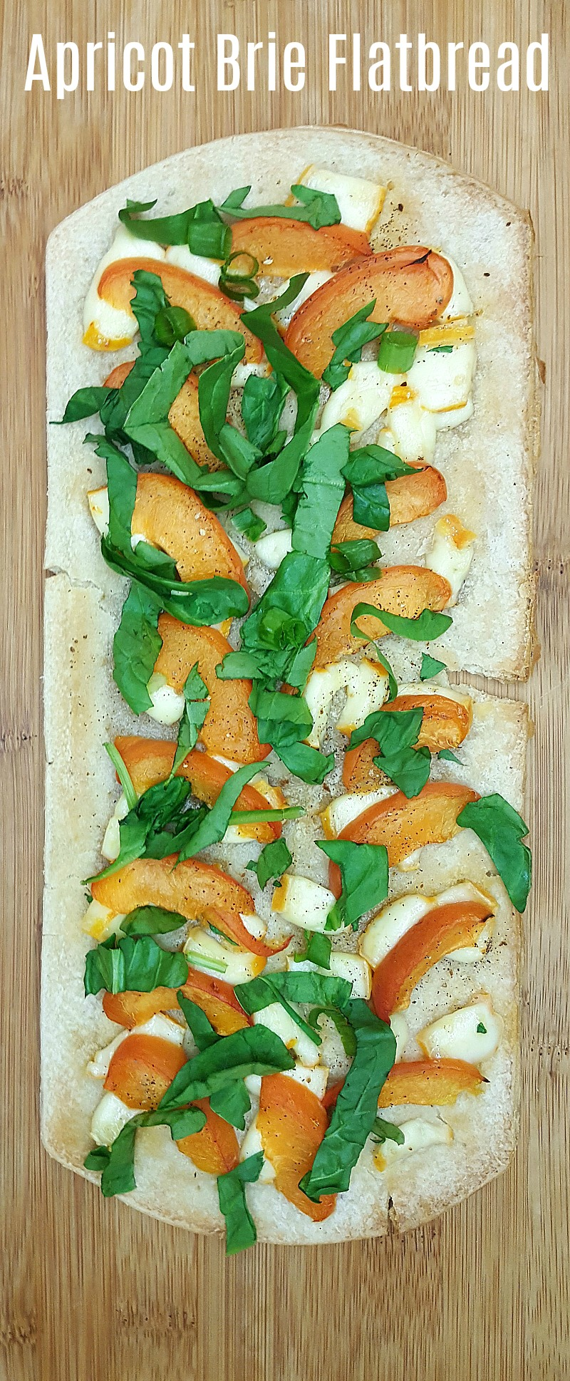 Apricot Brie Flatbread Recipe - A flatbread pizza with the goodness of fresh Summer fruit