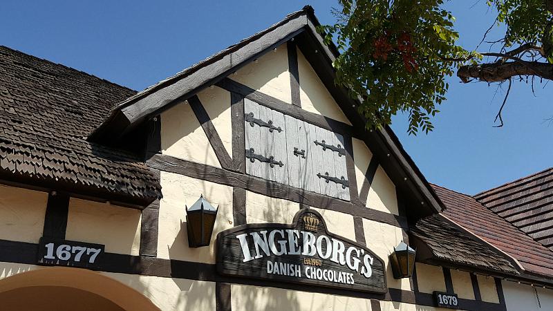 Ingeborg's Danish Chocolate Shop in Downtown Solvang, California