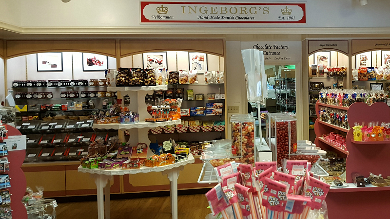 Candy shop - Ingeborg's Danish Chocolate Shop in Solvang, California