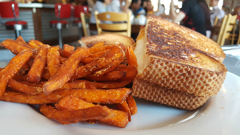 Grilled Cheese and Sweet Potato Fries at Chomp - A Modern American Diner in Solvang
