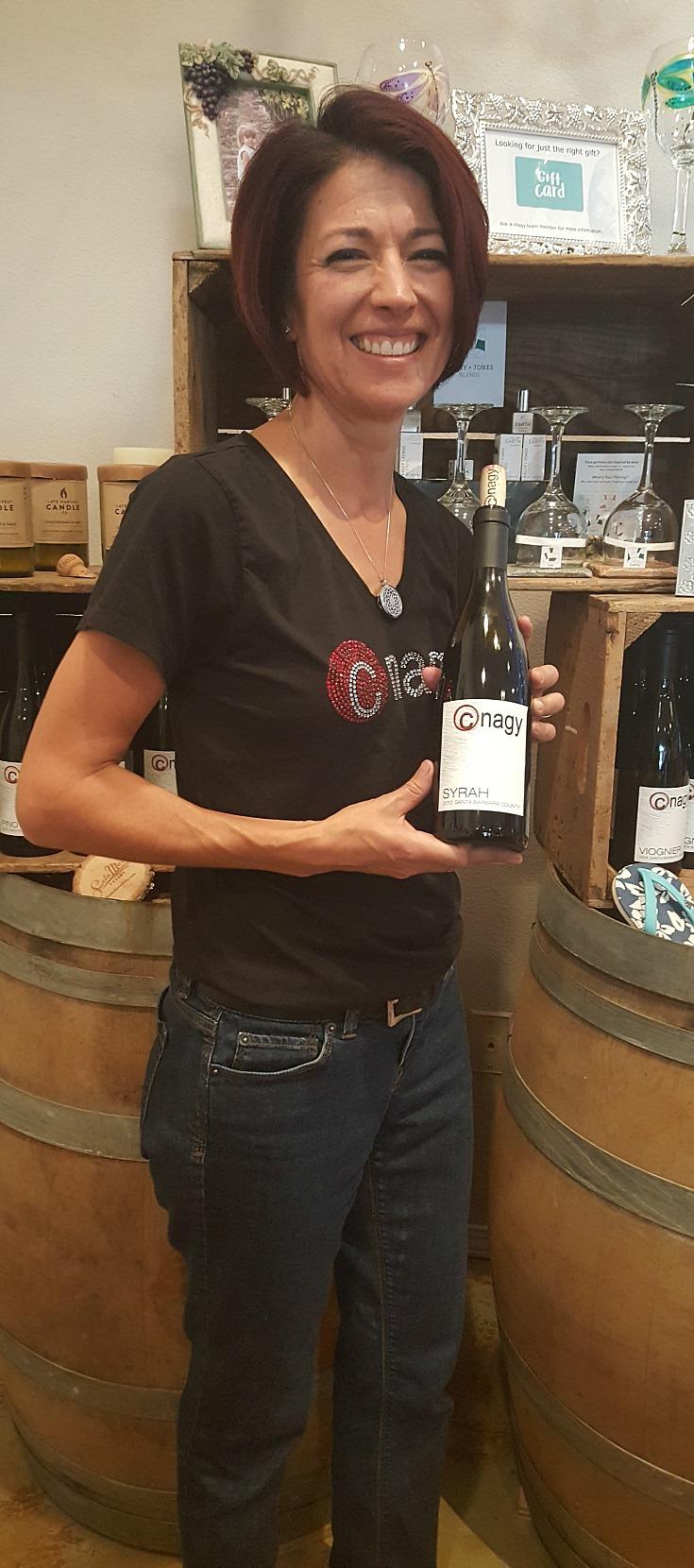 Clarissa Nagy of  at the Nagy Wines Tasting Room in Orcutt, California - cnagy wines