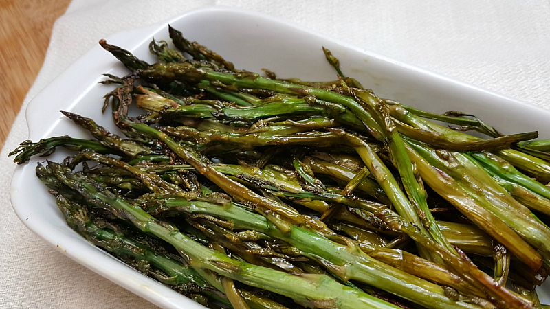 craft beer roasted asparagus