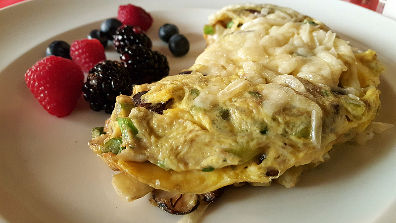 Vegetarian Omelette and Berries