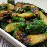 Pan Fried Brussels Sprouts with Caramelized Onions