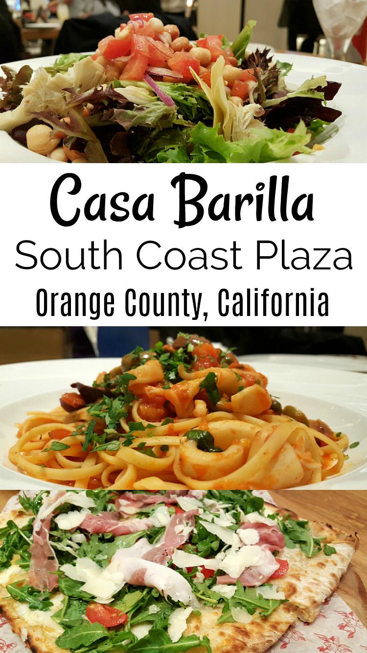 Casa Barilla South Coast Plaza Italian Restaurant
