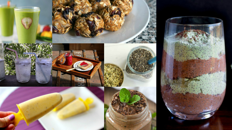 Chia Seed Recipes Round Up