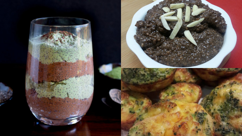 chia seed recipes parfait pudding egg cups