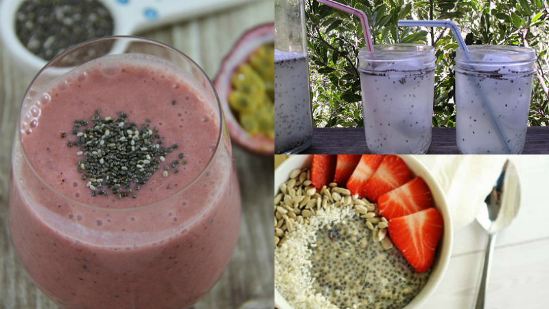 chia seed recipes smoothie lemonade breakfast