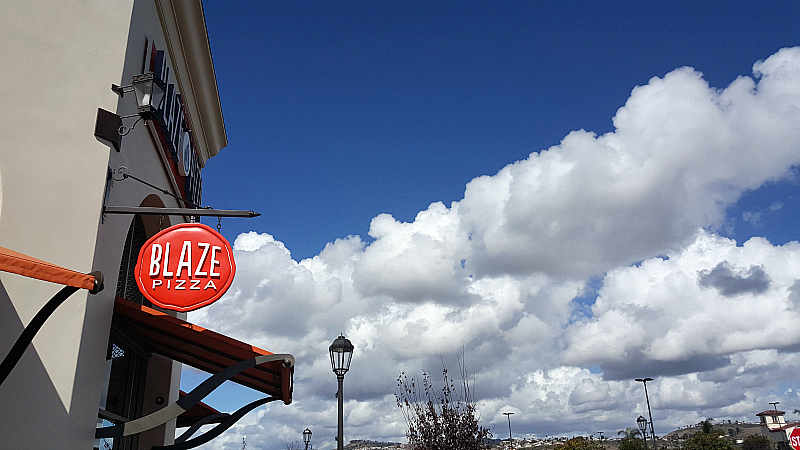 Blaze Pizza Blue Skies