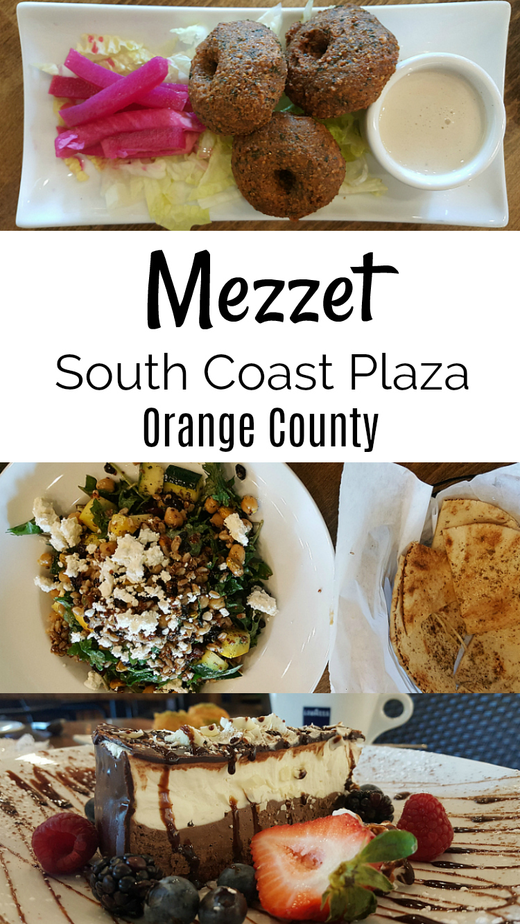 Mezzet South Coast Plaza Mediterranean Cuisine at Crystal Court Orange County California