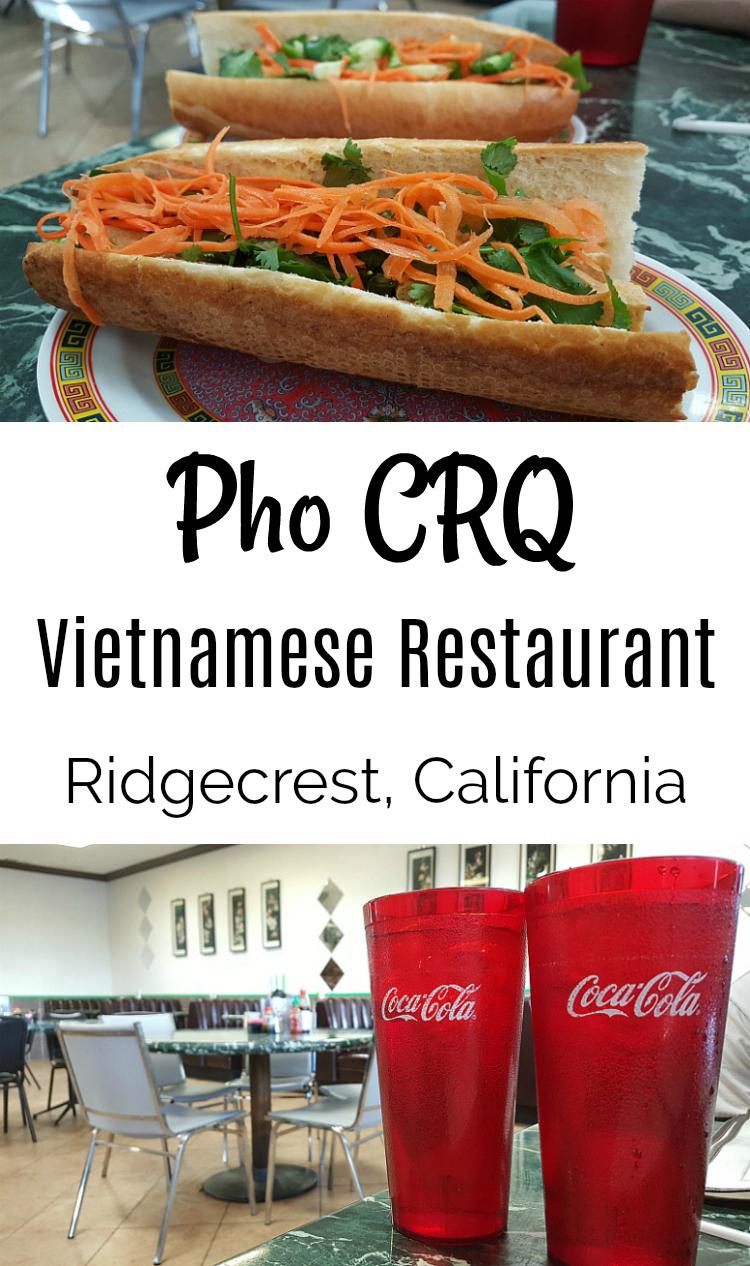 Ridgecrest Vietnamese Restaurant Pho CRQ Mojave Desert, California