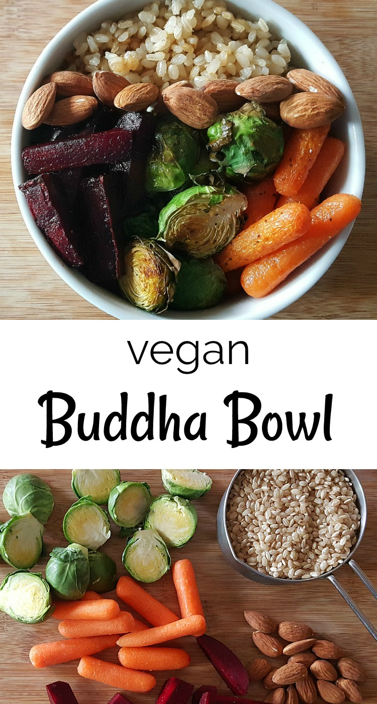 Vegan Buddha Bowl with Roasted Veggies Brown Rice and Tahini Sauce