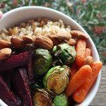 Vegan Buddha Bowl Recipe with Roasted Veggies and Brown Rice