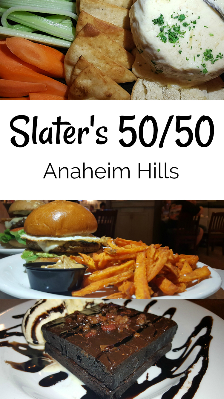 slaters anaheim hills restaurant known for burgers and bacon, but have vegetarian and vegan food too