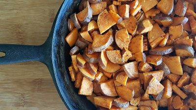 Ghee Roasted Sweet Potatoes