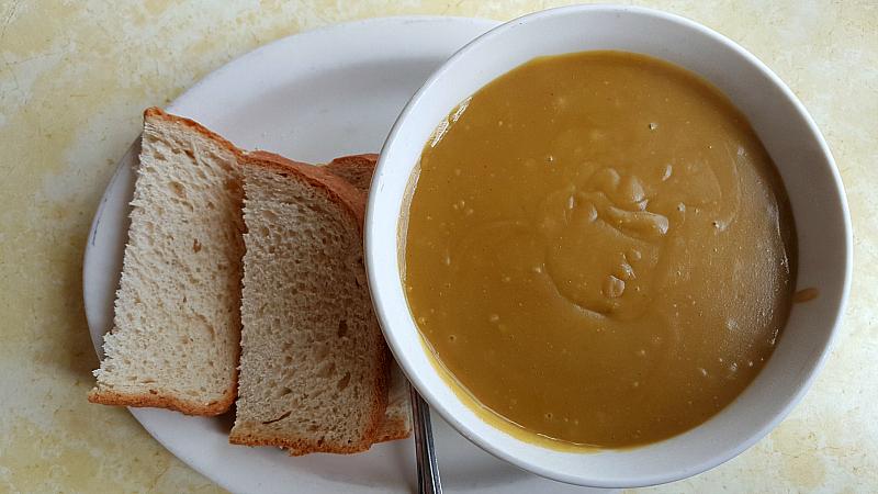 split pea soup mustard seed