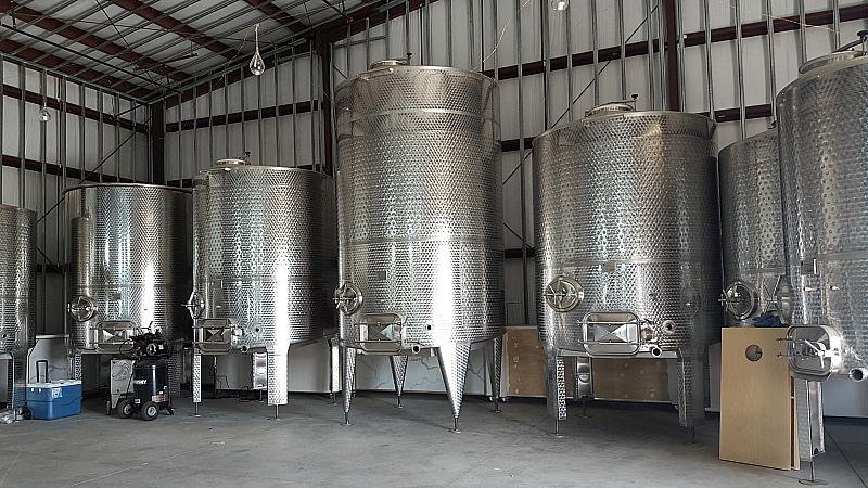 akash tasting room steel tanks