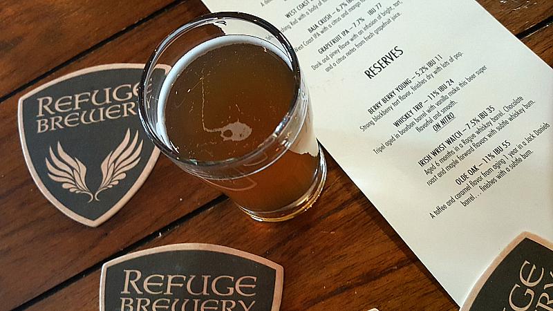 refuge brewery whiskey trip reserve
