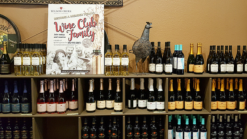 wilson creek wine display