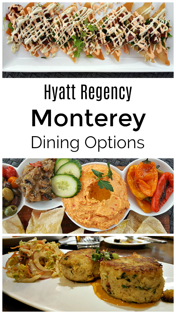 Hyatt Regency Monterey Dining Options - restaurant, lounge, sports bar and room service - Delicious hotel food