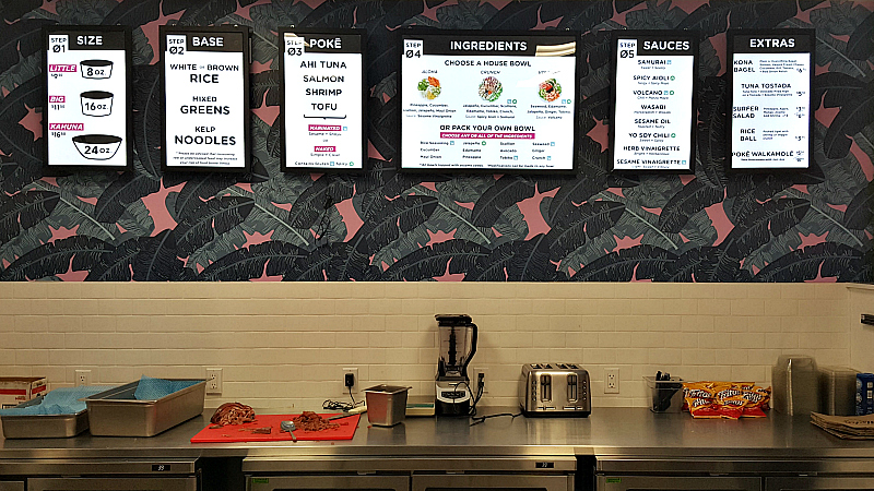 aloha poke menu board