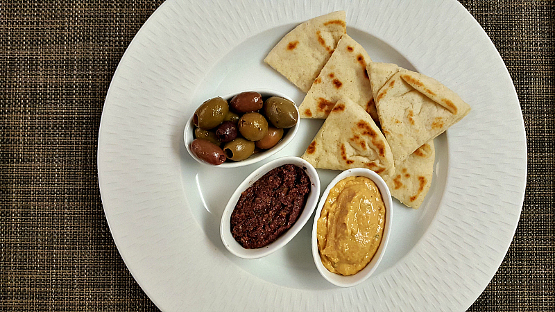 clement hummus olives