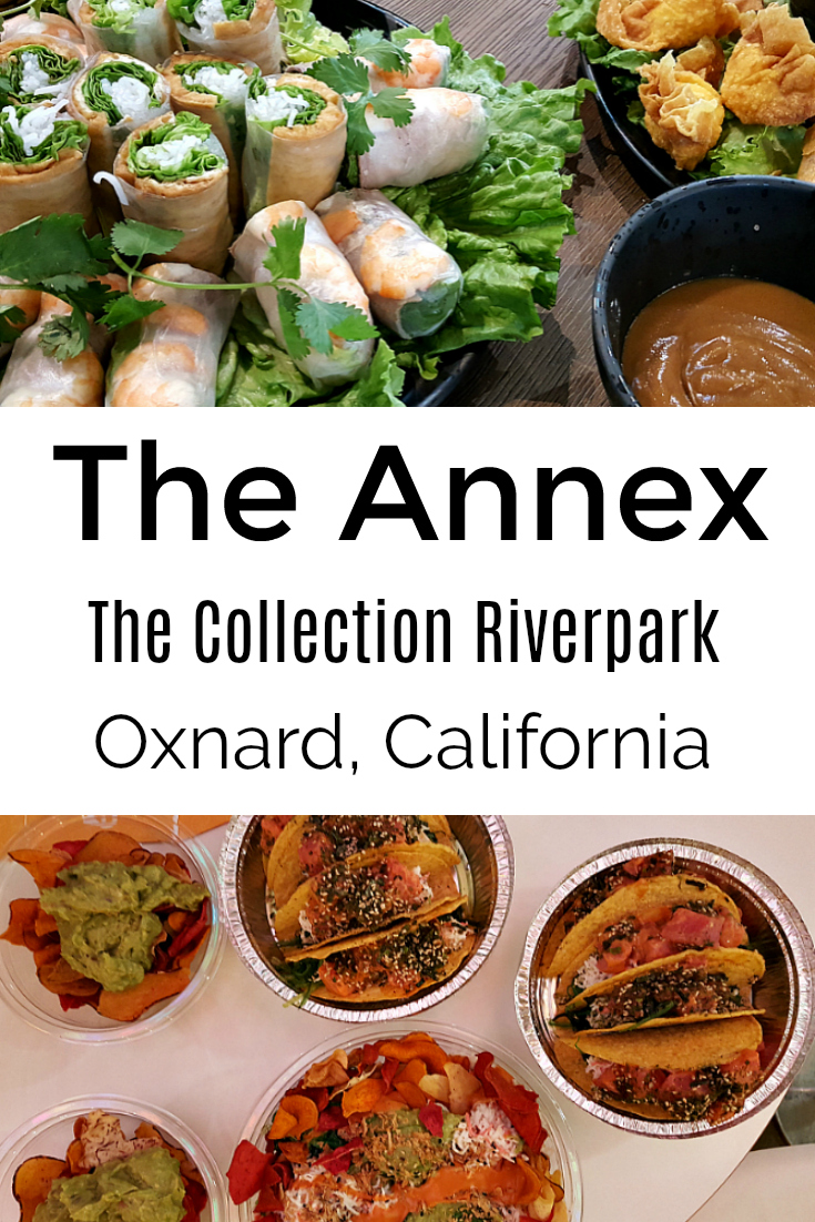 The Annex modern food court at The Collection Riverpark in Oxnard on the California Coast