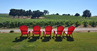 lodi bokisch vineyards red chairs
