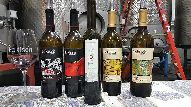 lodi bokisch winery wine bottles