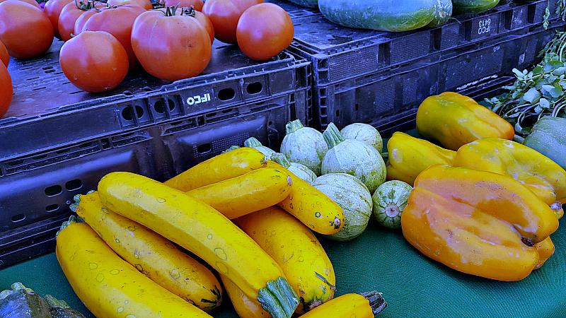 mdr farmers market squash tomatoes