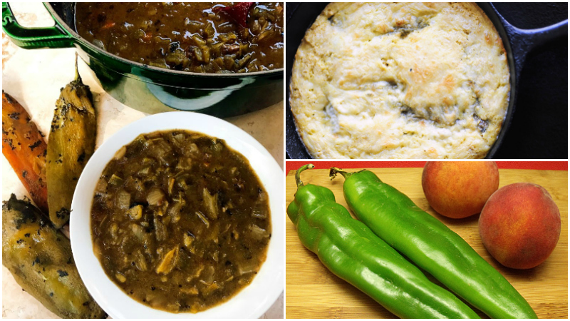 3 hatch chile recipes collage