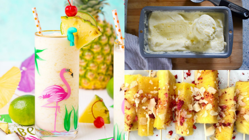 3 pineapple collage