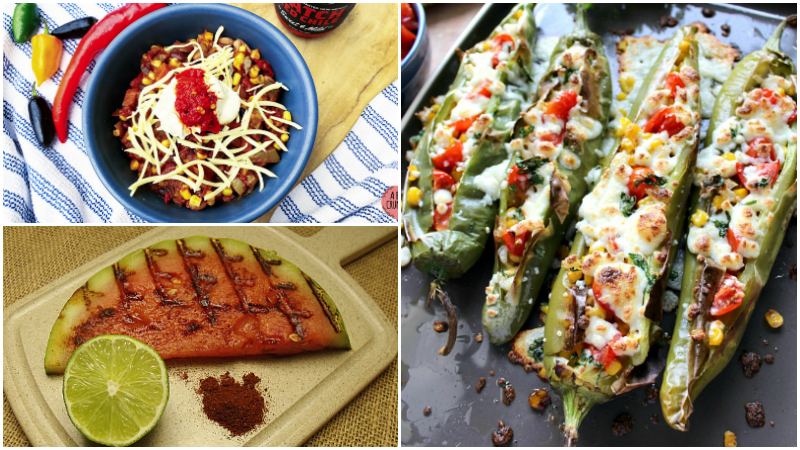 4 hatch chile recipes collage