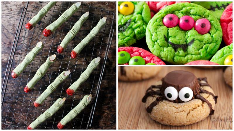 3 halloween cookies