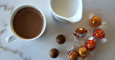 2 lindt truffle coffee