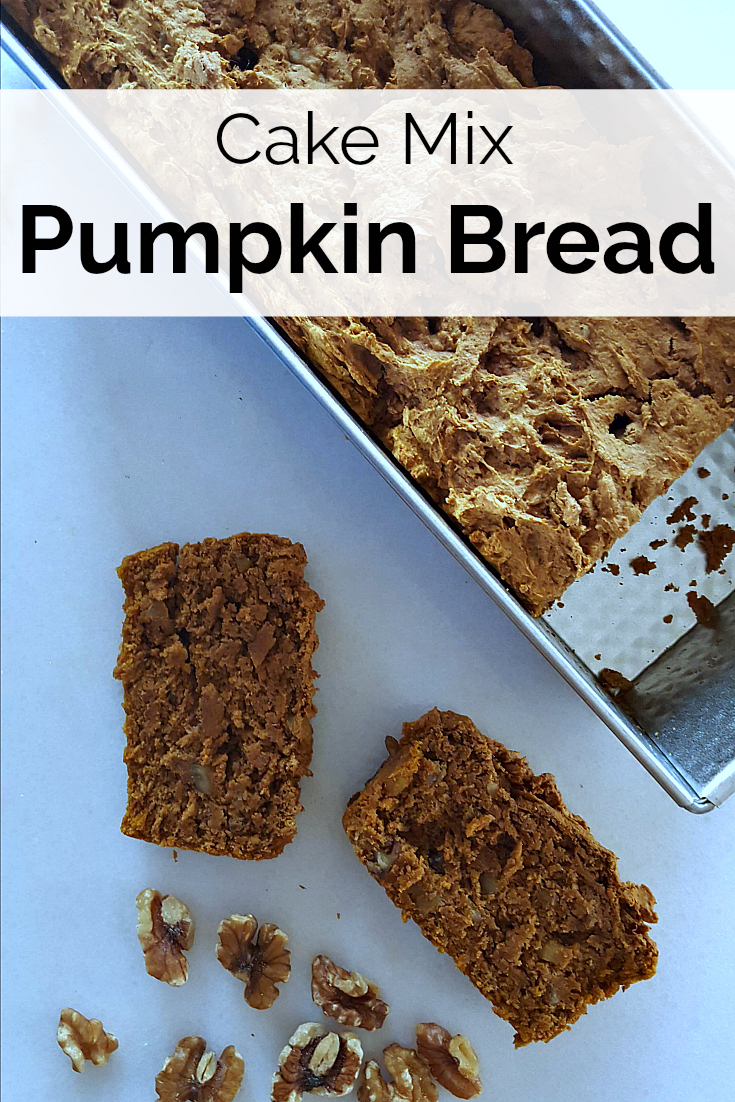 Cake Mix Pumpkin Bread Recipe - Easy recipe with only 3 ingredients
