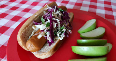 feature vegan hot dog slaw