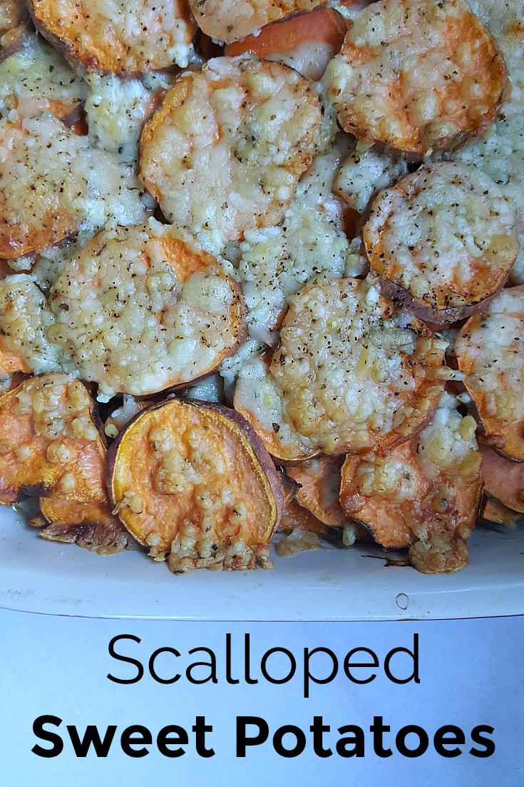 Scalloped Sweet Potatoes Recipe - Vegetarian side dish - Great for Thanksgiving Dinner