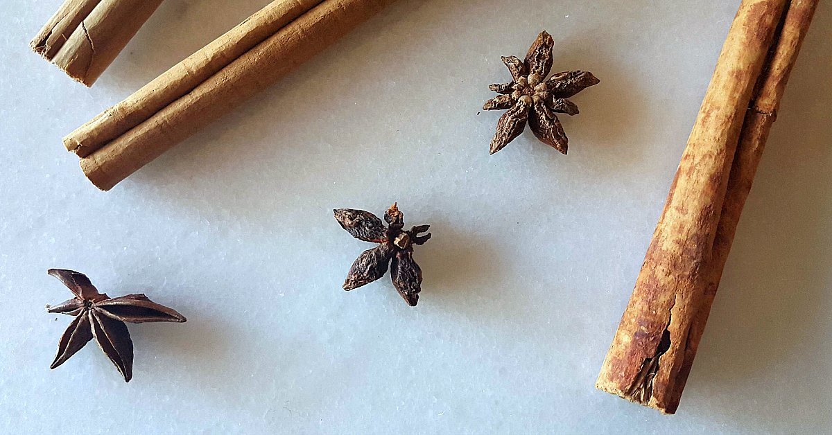 spices cinnamon star anise