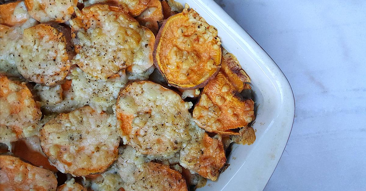 tasty scalloped sweet potatoes