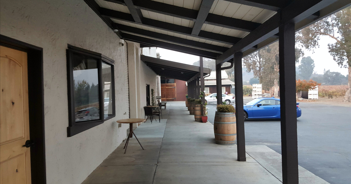 11 fortino winery porch car