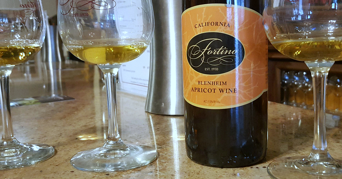 8 fortino winery apricot wine