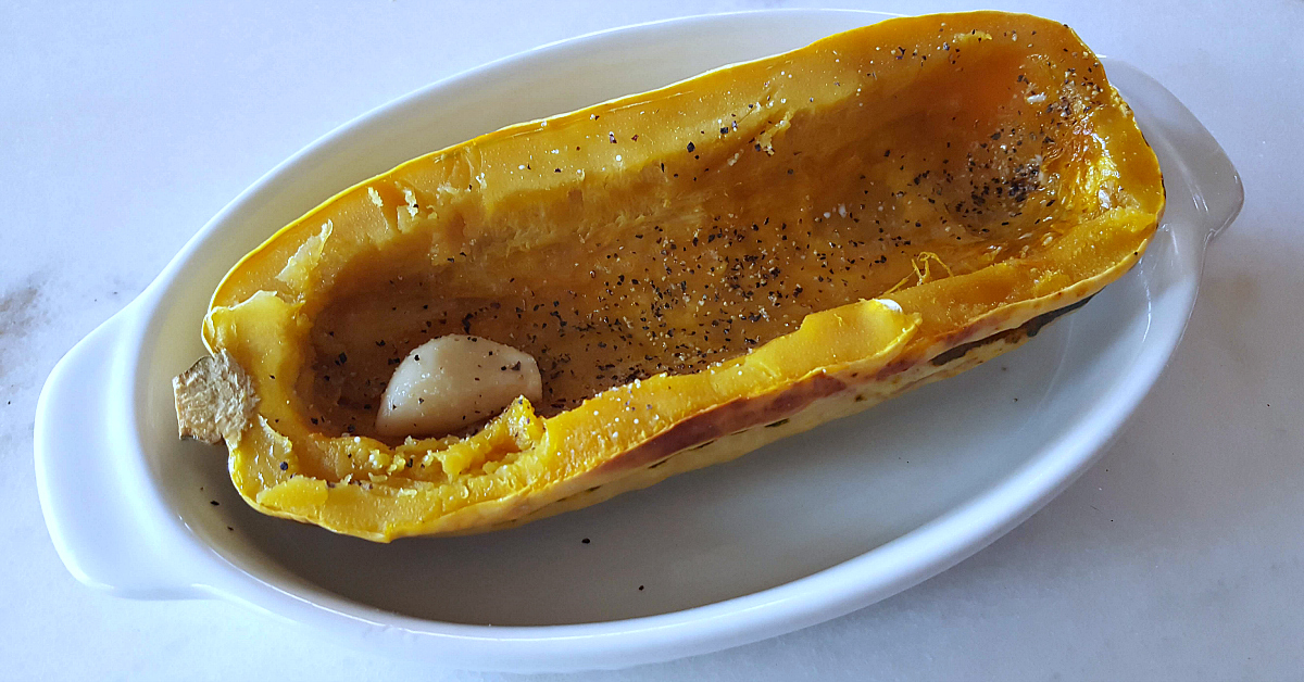 feature garlic roasted delicata squash