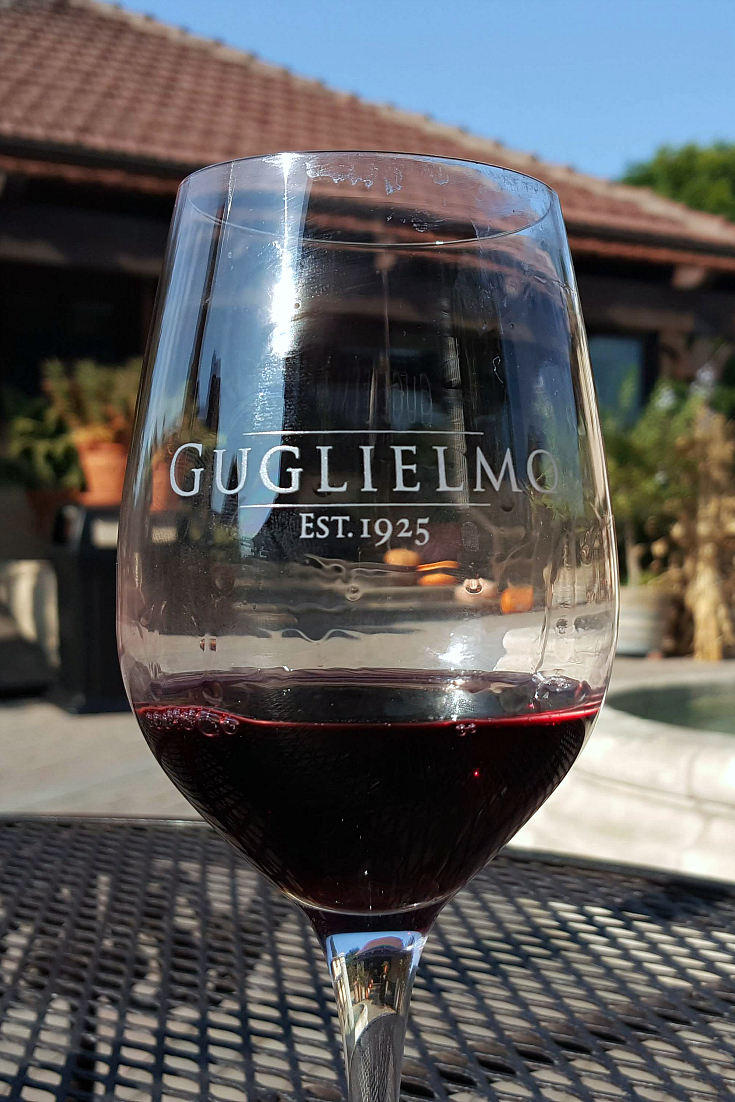 pin guglielmo winery glass