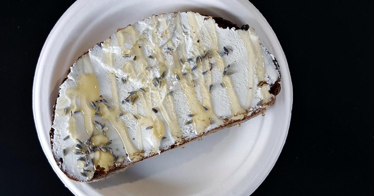 sipnsavor lavender honey toast
